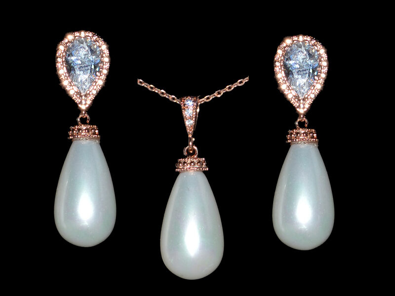 set perle mirese, set bijuterii perle, bijuterii mirese