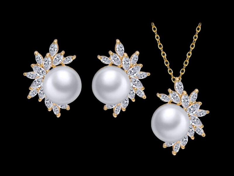 set perle mireasa, bijuterii mirese