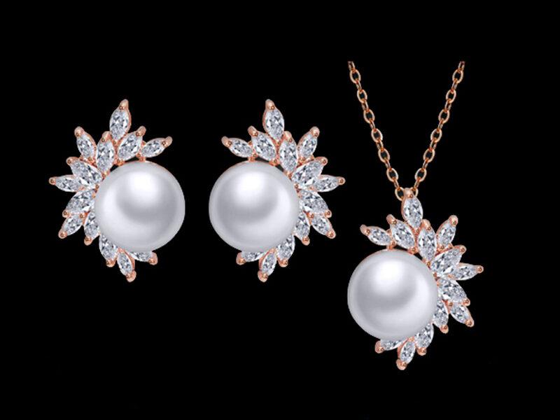 set perle mirese, bijuterii mireasa