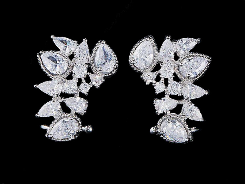 cercei mireasa, cercei statement, bijuterii statement, cuff earrings