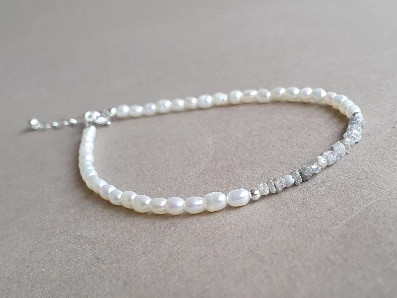 bratara perle diamante