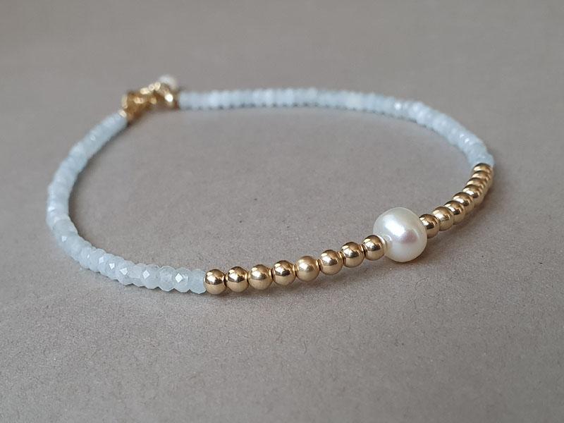 bratara aquamarin perla