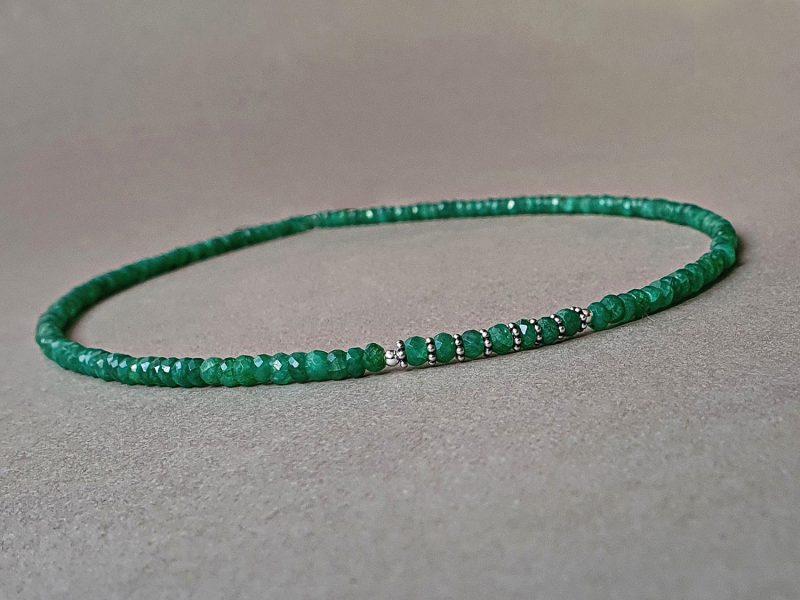 colier smarald argint