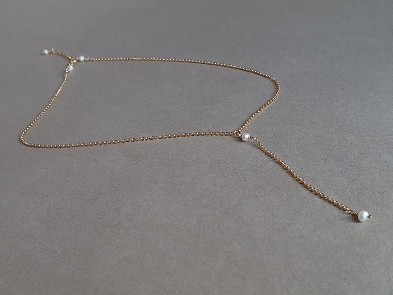 colier aur filat perle